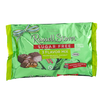 Russell Stover Sugar Free Pecan Delights, Coconut & Caramel 3 Flavor Mix