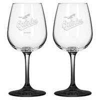 Boelter Brands MLB Orioles Set of 2 Wine Glass - 12oz