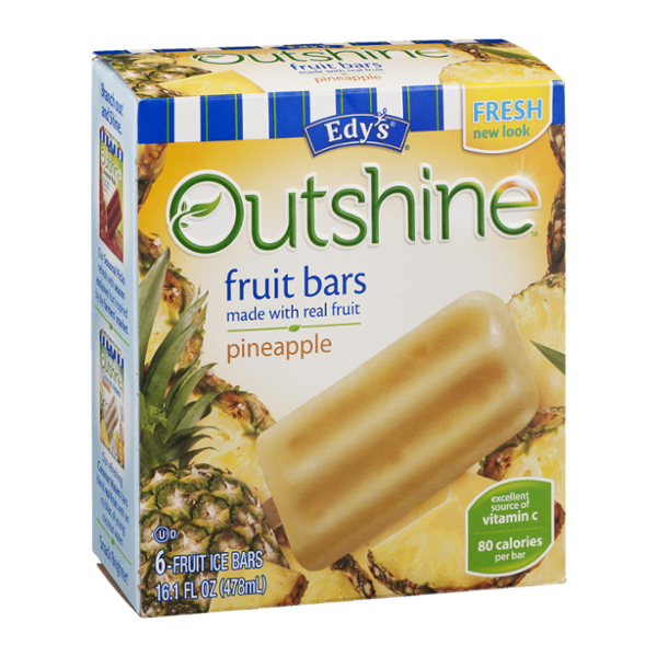Edy's Outshine Fruit Bars Pineapple - 6 CT