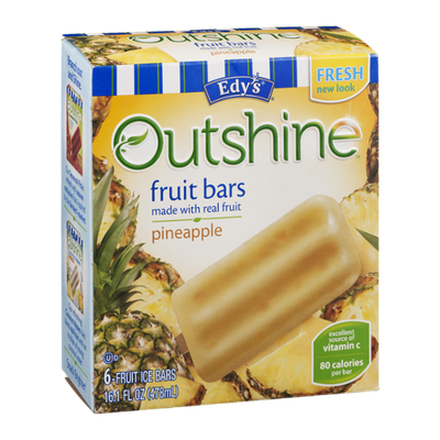 Edy's Outshine Fruit Bars Pineapple - 6 CT