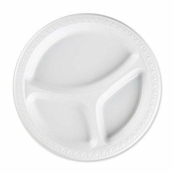 Genuine Joe Plastic Divided Plates