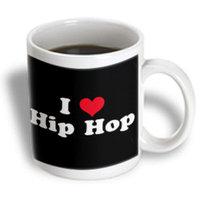 Recaro North 3dRose - Mark Andrews ZeGear Love - I Love Hip Hop - 11 oz mug