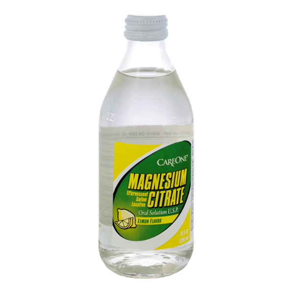 CareOne Magnesium Citrate Oral Solution Lemon Flavor