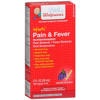 Walgreens Infant Pain/Fever Reducer, Grape, 2 fl oz
