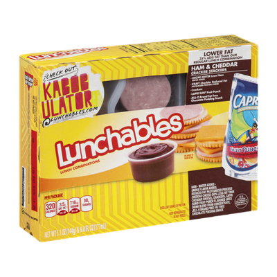 Lunchables Cracker Stackers Ham & Cheddar
