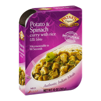 Patak's Potato & Spinach Curry with Rice Mild