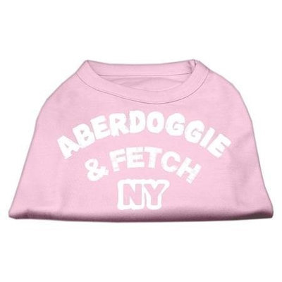 Mirage Pet Products 5101 SMLPK Aberdoggie NY Screenprint Shirts Light Pink Sm 10