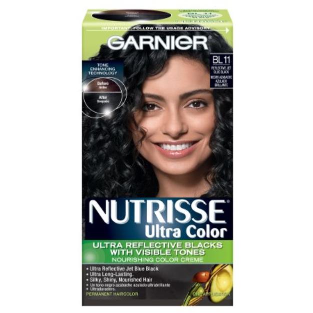 Garnier Nutrisse Hair Color, Blue Black, 1 ea