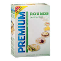Premium Rounds Unsalted Tops Saltine Crackers