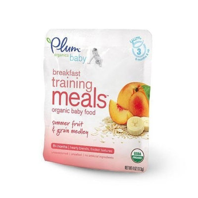 Plum Organics Breakfast Training Meals Baby Food, Summer Fruits and Grain Medley , 4-Ounce (Pack of 6)