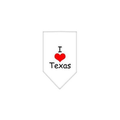 Ahi I Heart Texas Screen Print Bandana White Large
