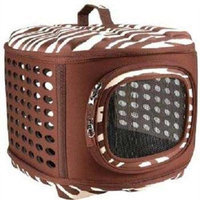 Petmate Curvations Luxury Pet Carrier, Small, Zebra