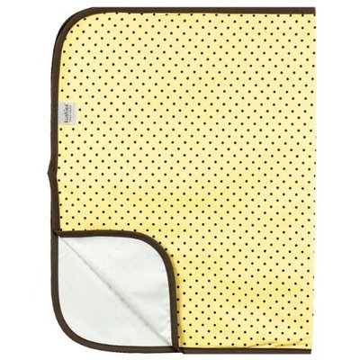 Kushies Deluxe Flannel Change Pad, Yellow with Brown Dots