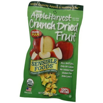Sensible Foods Organic Crunch Dried Snacks, Apple Harvest, 0.75-Ounce, 12-Count Pouches