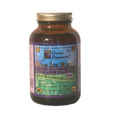 Green Pastures Blue Ice Royal Butter Oil/Fermented Cod Liver Oil Blend - No Flavor/Antioxidant Free