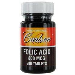 Carlson Labs - Folic Acid 800 mcg. - 300 Tablets