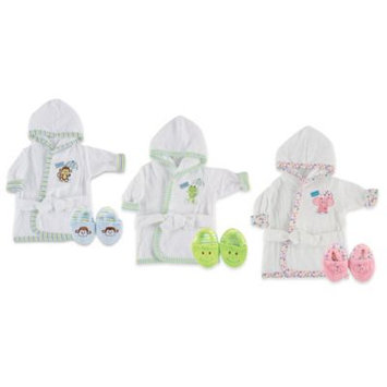 Baby Vision Luvable Friends Woven Terry Baby Bath Robe with Slippers