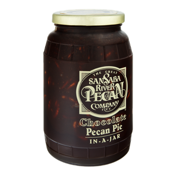 The Great San Saba River Pecan Company Chocolate Pecan Pie In-A-Jar
