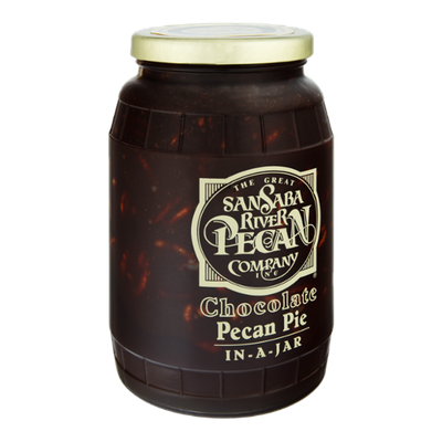 The Great San Saba River Pecan Company Chocolate Pecan Pie In-A-Jar