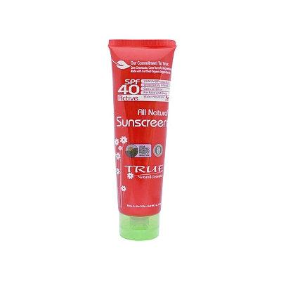 True Natural Cosmetics All Natural Active Sunscreen SPF 40