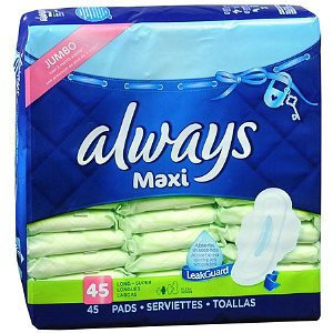 Always Maxi Pads with Flexi-Wings Long