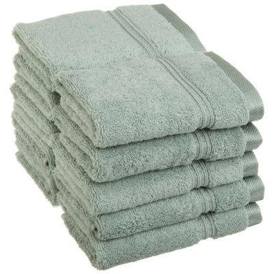 Blue Nile Mills 10-Piece 100% Egyptian Cotton Washcloth Face Towel Set 600 GSM, Sage