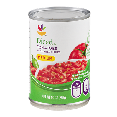 Ahold Diced Tomatoes with Green Chilies Medium