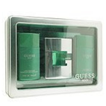 Guess? GUESS MAN by Guess SET-EDT SPRAY 2.5 OZ & AFTERSHAVE BALM 3.4 OZ & HAIR AND BODY WASH 3.4 OZ for Men