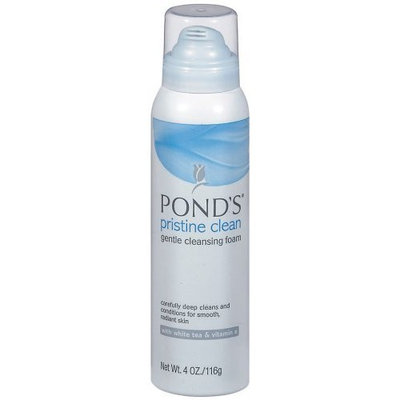 Pond's Pristine Clean Gentle Cleansing Foam with White Tea & Vitamin E, 4 oz (116 g)