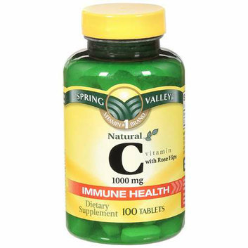 Spring Valley Natural C Vitamin w/Rose Hips Dietary Supplement 100 Ct