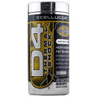 Cellucor - D4 Thermal Shock High Energy Fat Burner - 120 Capsules
