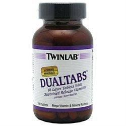 Twinlab TWLBDUAL01000000CP Dual Tabs Multi-Vitamin Mineral 100ct
