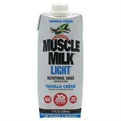 CytoSport CSPTRTDS1200LTCHLQ RTD Muscle Milk Light Vanilla Creme 17 oz 12 ct