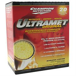 Champion Nutrition - Ultramet Original Banana Cream - 20 x 2.7oz 76g Packets