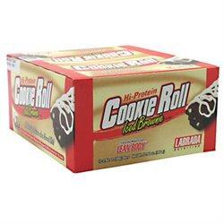 Labrada Nutrition Lean Body Cookie Roll Bar, Iced Brownie, 12 ct