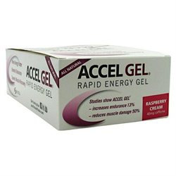 Pacific Health Accel Gel, Raspberry Cream w/ 40 mg. caffeine, 24 ct