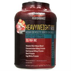 Champion Nutrition - Heavyweight Gainer 900 Strawberry Shake - 7 lbs.