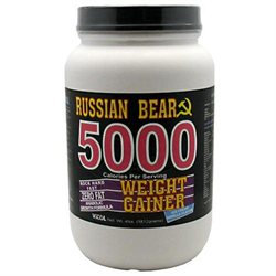 Vitol Products Russian Bear 5000 Gainer Vanil - 4 Pound Powder - Weight Gainers