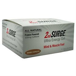 Accelerade 2nd Surge Ultra Energy Gel - Box of 8 (Double Espresso w/Caffeine)