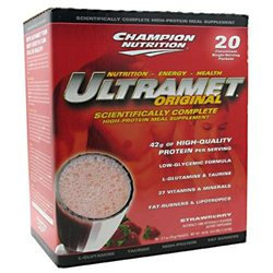 Champion Nutrition Ultramet Original Strawberry - 20 Packets