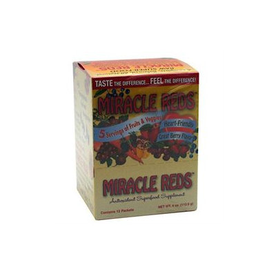 MacroLife Naturals Inc. Miracle Reds - 12 Ounces Packets - Acai / Super Juices