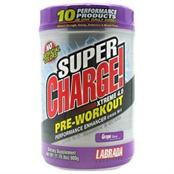 Labrada Nutrition Super Charge Xtreme N.O. - 1.76 lbs Grape 1.76 lbs