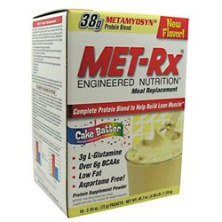 Met-Rx Meal Replacement Cake Batter-18-Packs