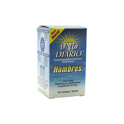 Uno Diario Hombres, For Men, 100 Tablets, Absolute Nutrition