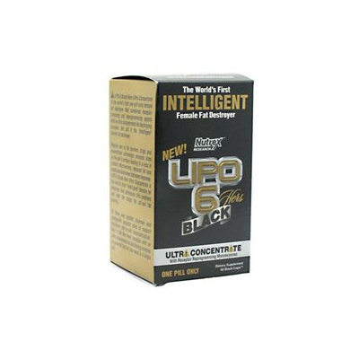 Nutrex Research LIPO 6 Black, Hers, Black-Caps, One Pill Only, 60 ea