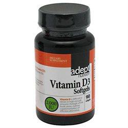 Adept Nutrition Vitamin D3 2,000 IU