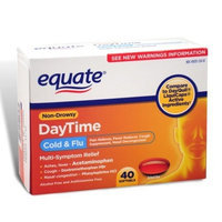 Equate - Day Time, Multi-Symptom Cold/Flu Relief, 40 Softgels (Compare to DayQuil LiquiCaps)