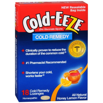 Cold-Eeze Lozenge, Honey Lemon, 18 ea