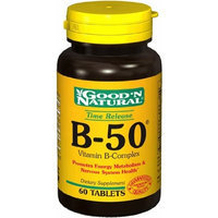 B-50 B-Complex (Timed Release), 60 Tablets, Good 'N Natural