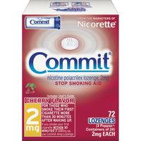 Nicorette Commit Cherry Lozenge - 72 Count (2 mg)